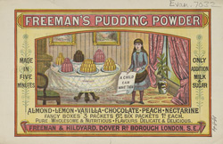 Advert For Freeman's Pudding Powder